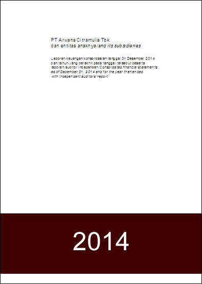 Financial Report 2014 - FY2014