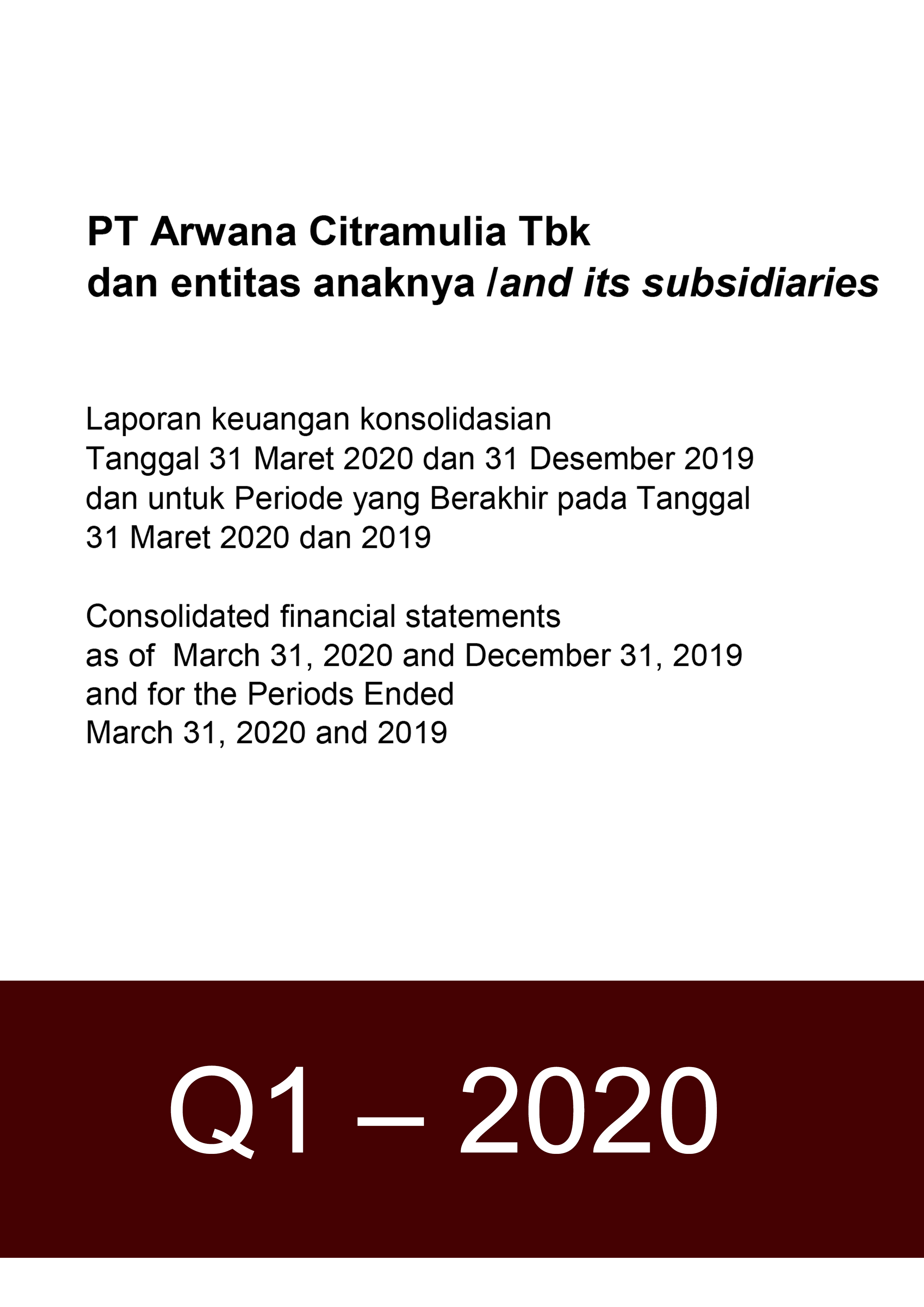 Financial Report 2020 Q1